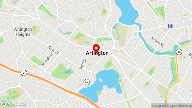 Google Map of 20 Academy Street, Arlington, MA 02476