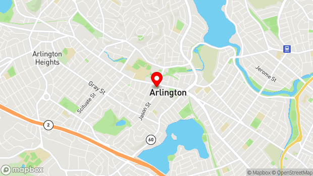 Google Map of 7 Jason Street, Arlington, MA 02476