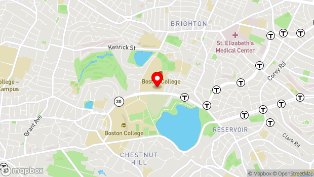 Google Map of 2101 Commonwealth Avenue, Brighton, MA 02135