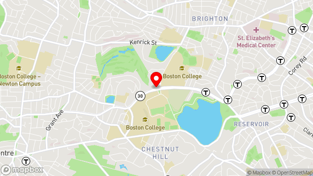 Google Map of 140 Commonwealth Avenue, Devlin Hall 108, Chestnut Hill, MA 02467