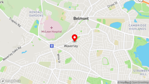 Google Map of 266 Beech Street, Belmont, MA 02478