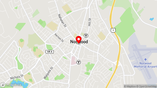 Google Map of 109 Central Street, Norwood, MA 02062