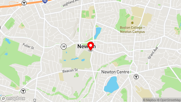 Google Map of 330 Homer Street, Newton, MA 02459