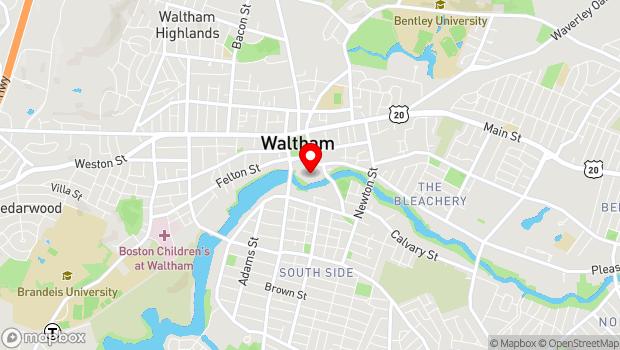 Google Map of 154 Moody Street, Waltham, MA 02354