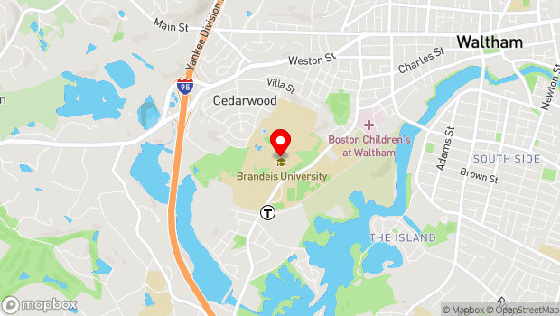 Google Map of 415 South Street, Waltham, MA 02453