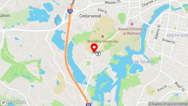 Google Map of 515 South Street, Waltham, MA 02453