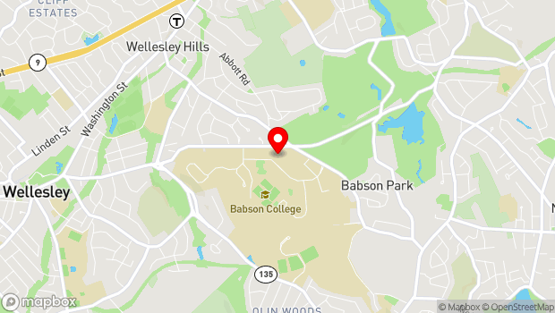 Google Map of Babson College, Babson Park, MA 02457
