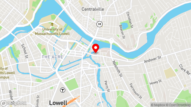 Google Map of 50 East Merrimack Street, Lowell, MA 01852