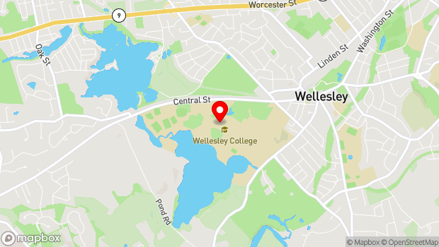 Google Map of 106 Central Street, Wellesley, MA 02482