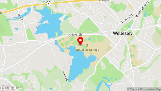 Google Map of 106 Central Street, Wellesley, MA 02481