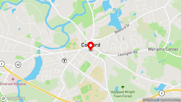 Google Map of 51 Walden Street, Concord, MA 01742