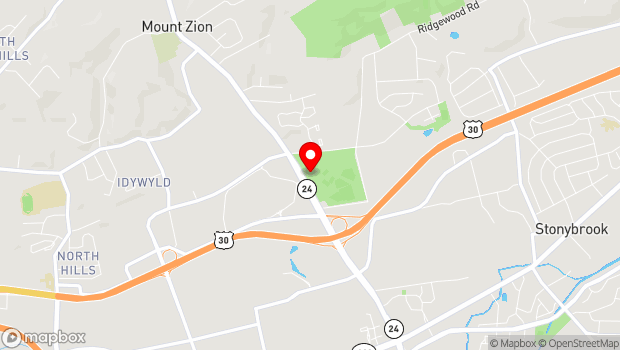 Google Map of 1501 Mt. Zion Road, York, PA 17402