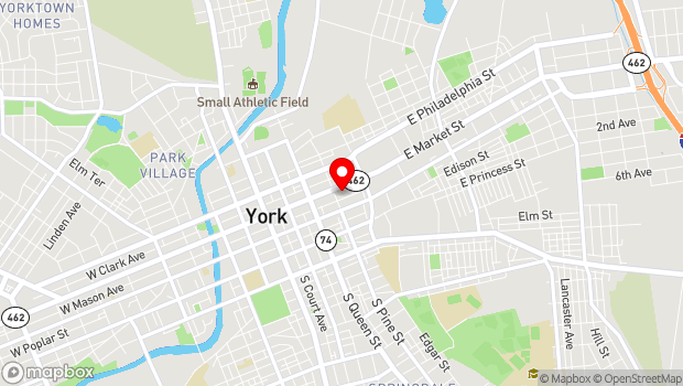 Google Map of 320 E. Market Street, York, PA 17403