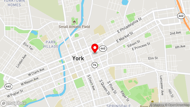Google Map of 250 East Market Street, York, PA 17401