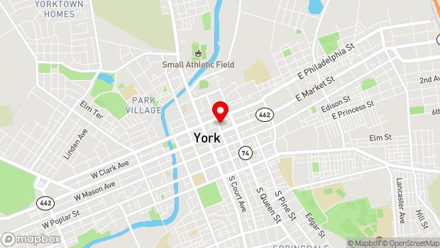 Google Map of 29 N. Duke Street, York, PA 17401