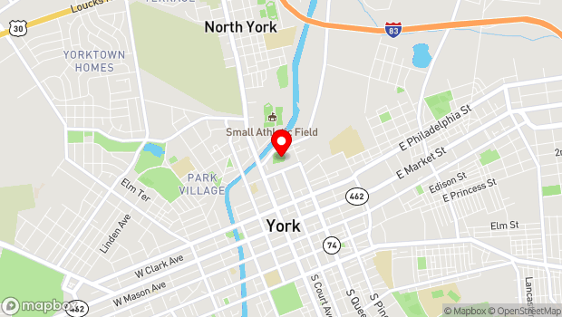 Google Map of 5 Brooks Robinson Way, York, PA 17401