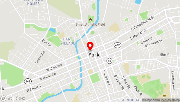 Google Map of 50 N George Street, York, PA 17401