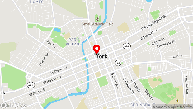 Google Map of 34 North Cherry Lane, York, PA 17401