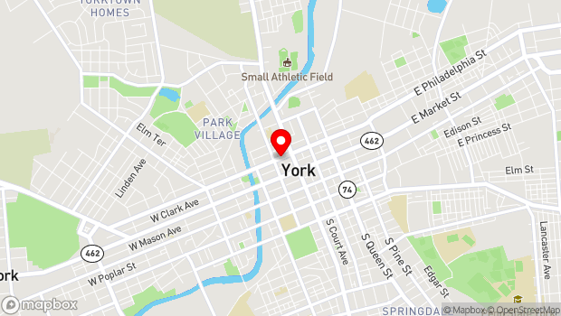 Google Map of 37 West Philadelphia Street, York, PA 17403