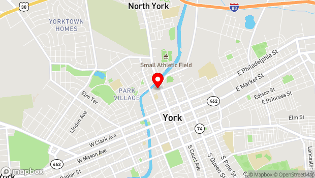 Google Map of 320 North George Street, York, PA 17401
