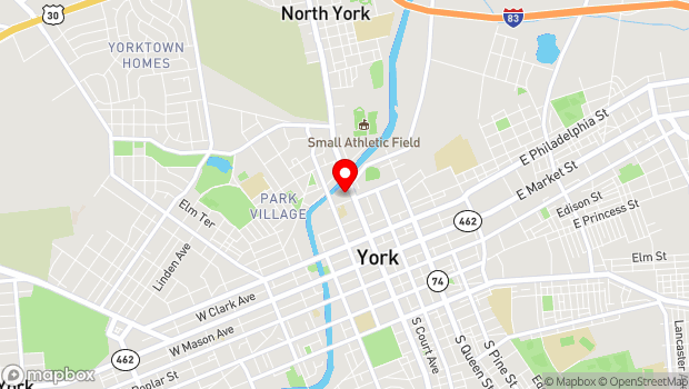 Google Map of 320 N. George St., York, PA 17401