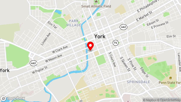 Google Map of 217 West Princess Street, York, PA 17401