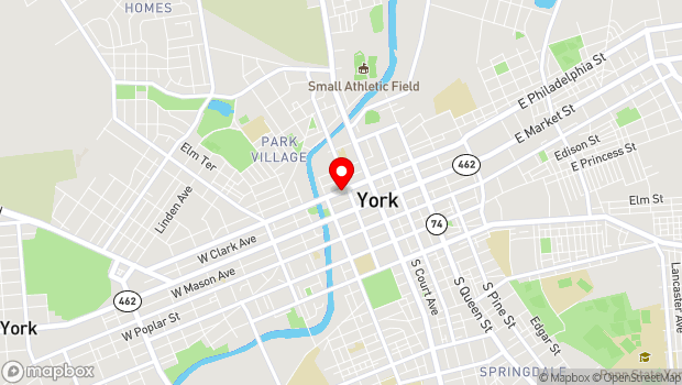 Google Map of 118 West Philadelphia Street, York, PA 17401