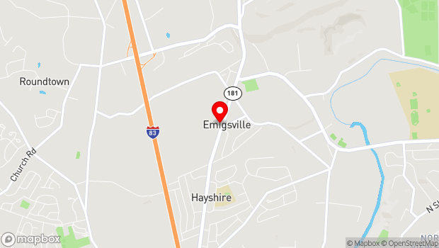 Google Map of 3118 North George St, Emigsville, PA 17318