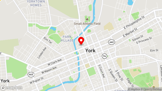 Google Map of 140 North Beaver Street, York, PA 17401