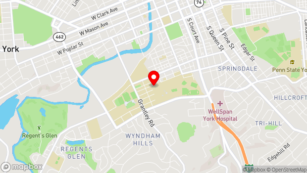 Google Map of 441 Country Club Rd., York, PA 17403