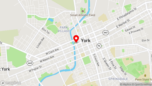 Google Map of 157 West Market Street, York, PA 17401