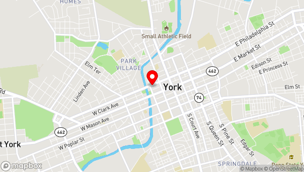 Google Map of 148 W. Philadelphia St., York, PA 17401