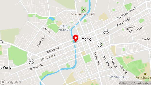 Google Map of 205 West Market St, York, PA 17401