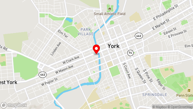 Google Map of 232 West Market St, York, PA 17401