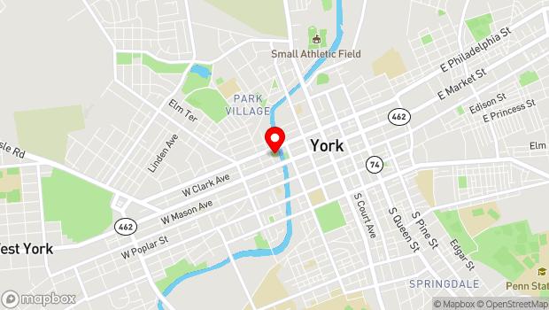 Google Map of 200 W Philadelphia Street, York, PA 17401