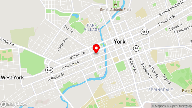 Google Map of 324 West Market St., York, PA 17401