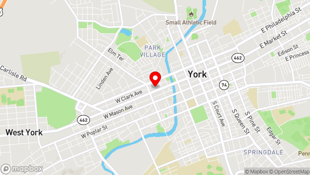 Google Map of 343 West Market Street, York, PA 17401