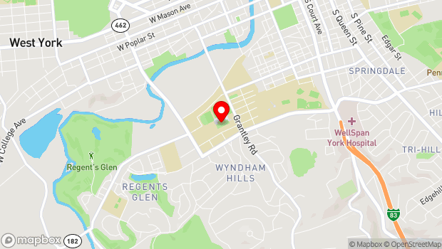 Google Map of 899 S Richland Ave, York, PA 17403