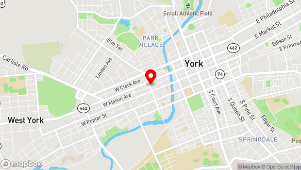 Google Map of York, PA 17401