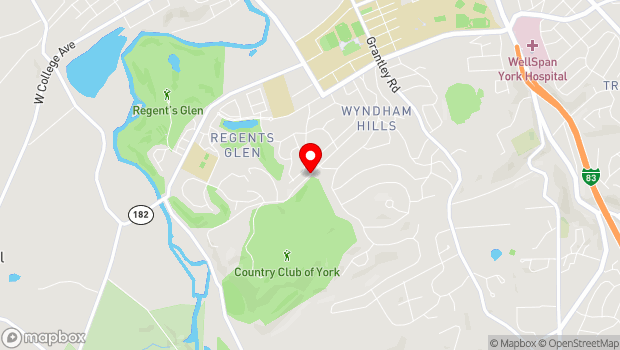 Google Map of 1400 Country Club Road, York, PA 17403