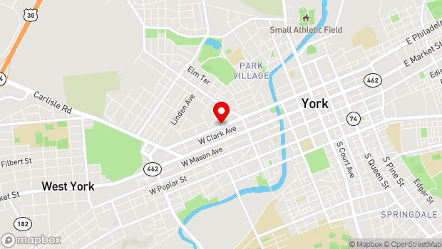 Google Map of 145 N. Hartley St., York, PA 17401