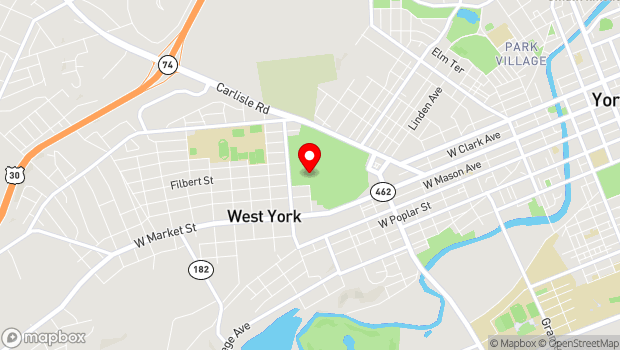 Google Map of 334 Carlisle Ave, York, PA 17404