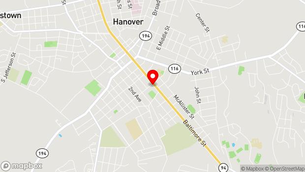 Google Map of 305 Baltimore Street, Hanover, PA 17331