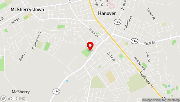 Google Map of 50 N. Forney Ave., Hanover, PA 17331