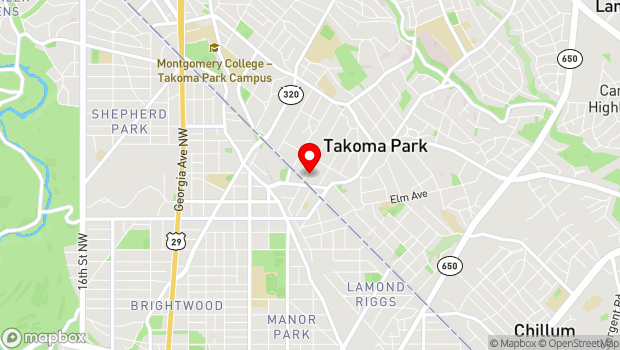Google Map of 7117 Maple Avenue, Takoma Park, MD 20912