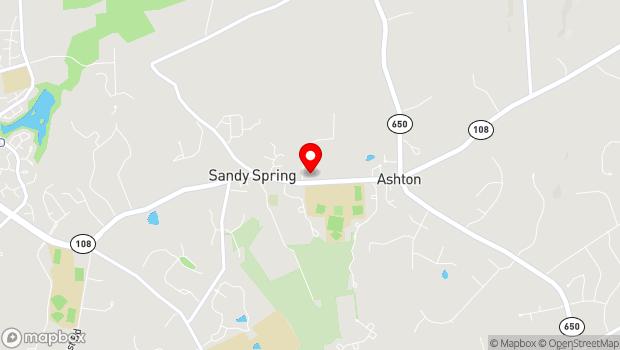 Google Map of 17901 Bentley Road, Sandy Spring, MD 20860