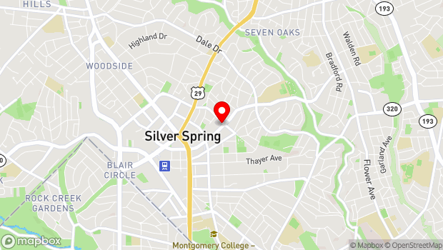 Google Map of 801 Wayne Avenue, Suite G-100, Silver Spring, MD 20910
