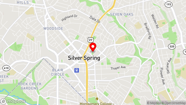 Google Map of 1 Veterans Place, Silver Spring, MD 20910