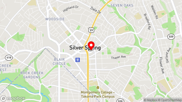 Google Map of 925 Wayne. Ave., Silver Spring, MD 20910