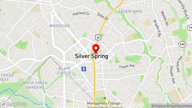 Google Map of 911 Ellsworth Drive, Silver Spring, MD 20910